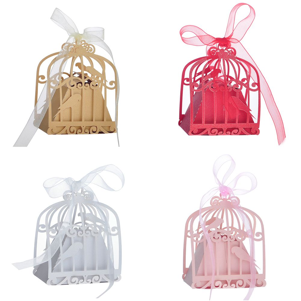 50 Pcs / Pack Birdcage Party Favor Boxes Gift Wedding Favor ...