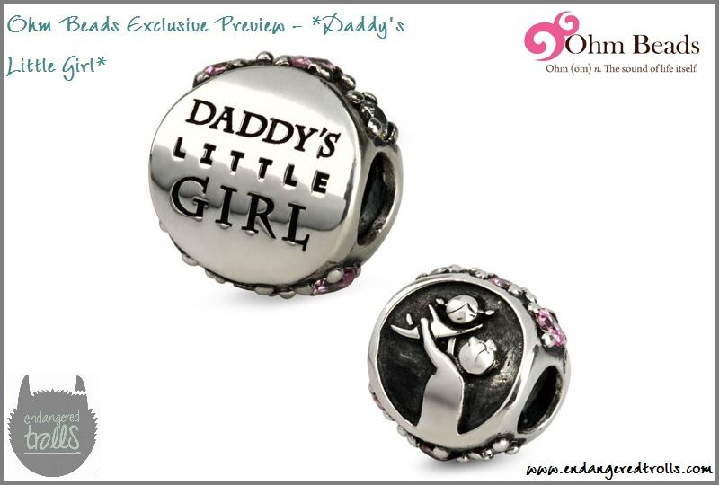 Daddy S Little Girl Pandora Bead Exclusive Preview Of Ohm Beads