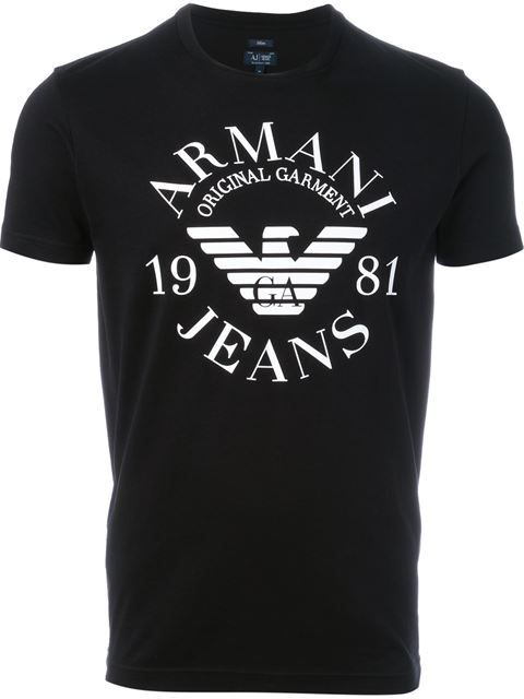 9408b9b3dc Armani Jeans Camiseta com logo