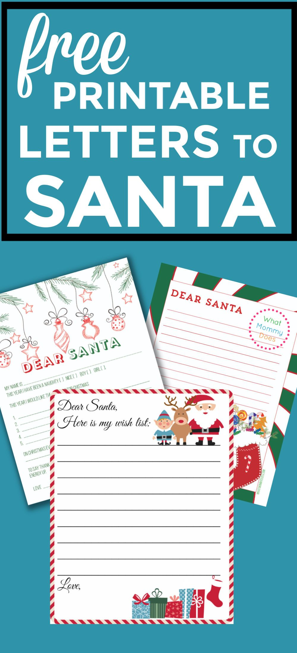 Free Santa Letter Templates + How to Mail a Letter to