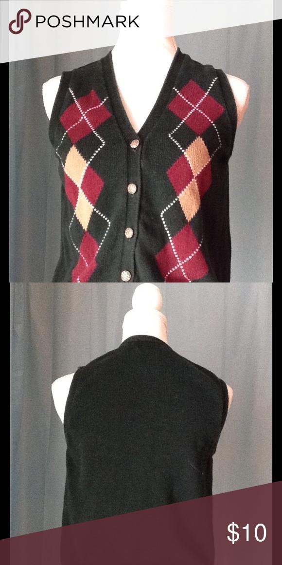 Argyle sweater vest size S Petite   Argyle sweater vest, Sag ...
