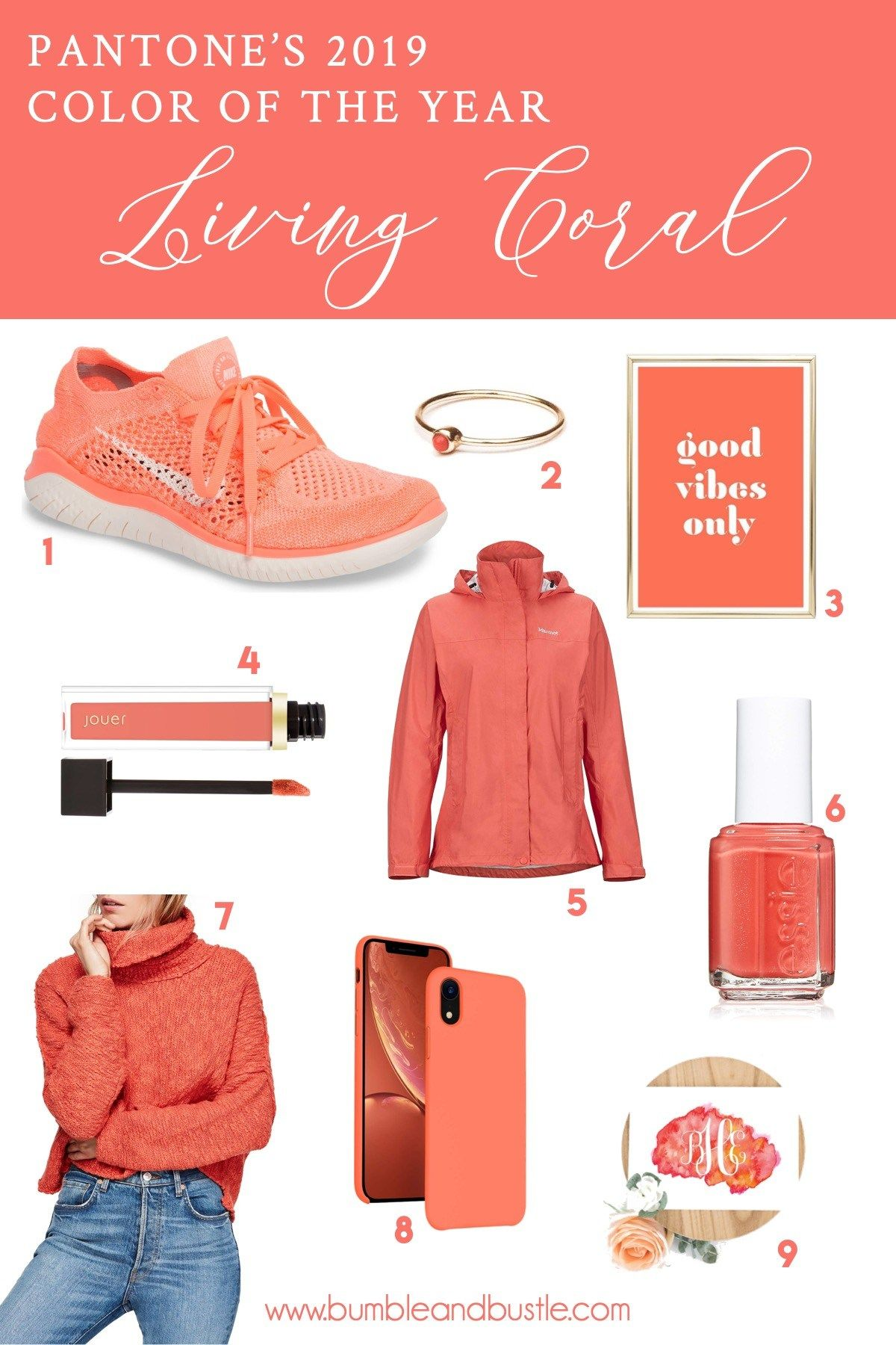 Celebrating Living Coral Pantone s 2019 Color of the Year with