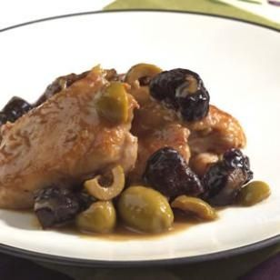 Chicken with Green Olives  Prunes Recipe recipies