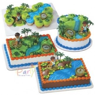 Go Diego Go Cake Decoration Kit Go Diego Go Party Supplies - Go diego go birthday cake