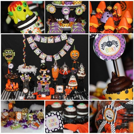 Pin by Tara Renee Sumner on parties Pinterest Party printables - halloween party treats ideas