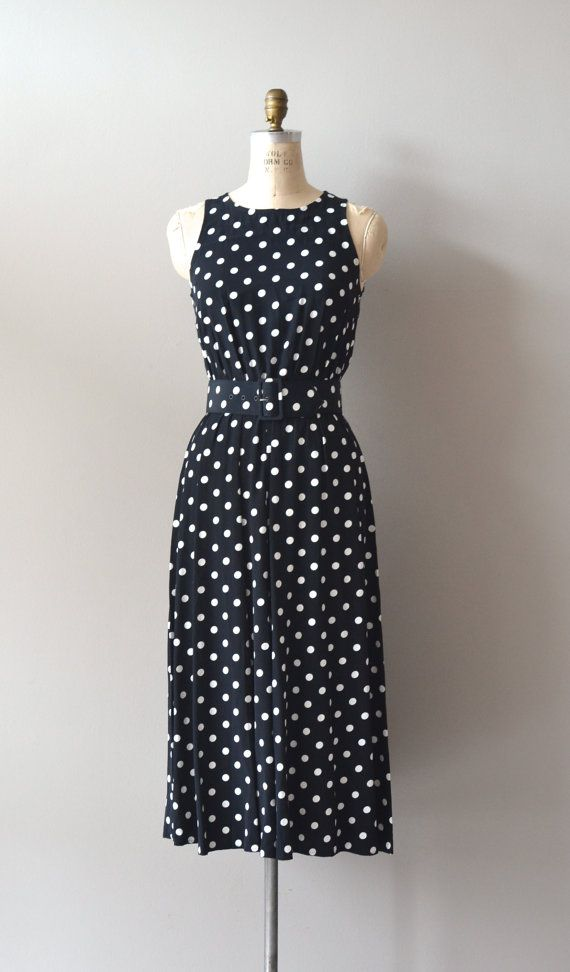 polka dot dress / polka dot 80s dress