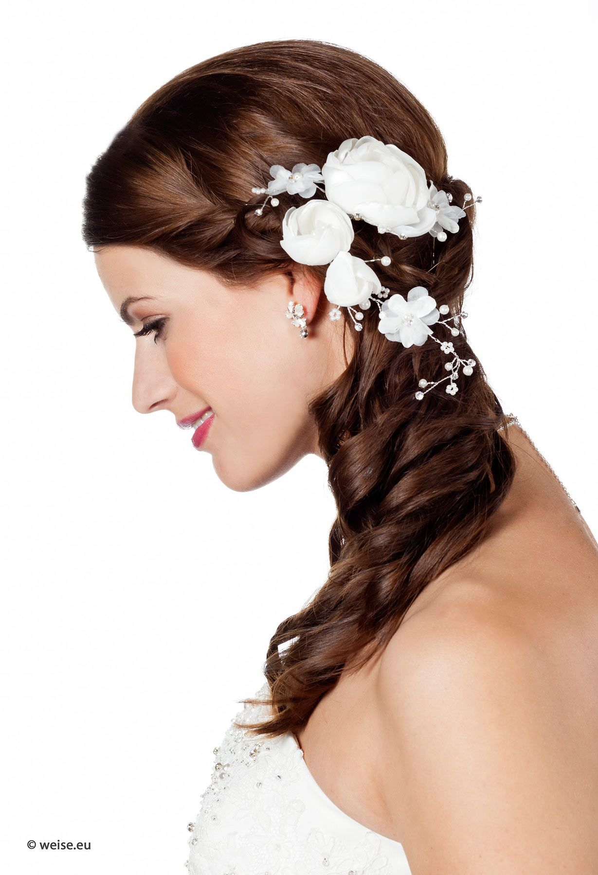 Ausgefallene Asymmetrische Frisur Curled Wedding Hair Cute Wedding Hairstyles Bridal Hair