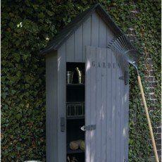Armoire de jardin bois Wissant naturelle, l.78 x H.190 x P ...
