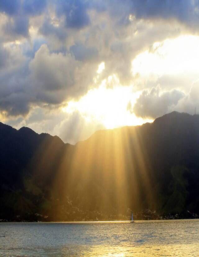 gods beautiful light shining down upon us