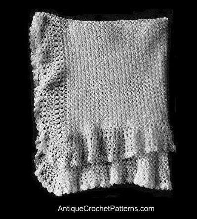 Crochet Baby Blanket Vintage Baby Shawl Baby Blanket Pinterest