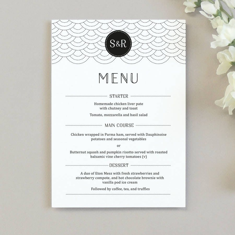 Awesome Menu Card Wedding Template Wedding Ideas