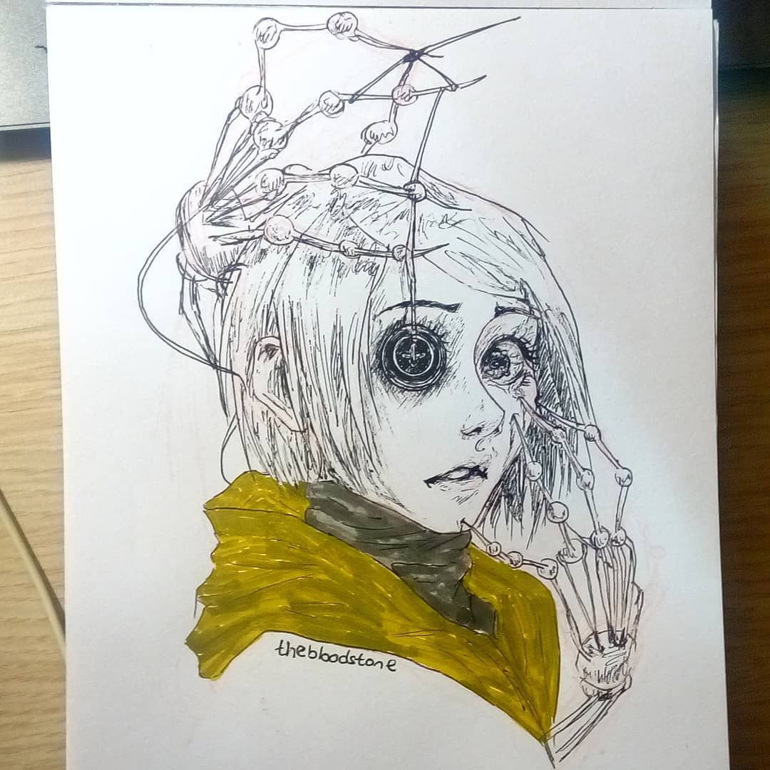 Inktober Day 2 I Love Drawing Spooky Stuff And Animation Movies And When We Say Spooky Stuff And Animation There Tim Burton Art Coraline Art Coraline Drawing