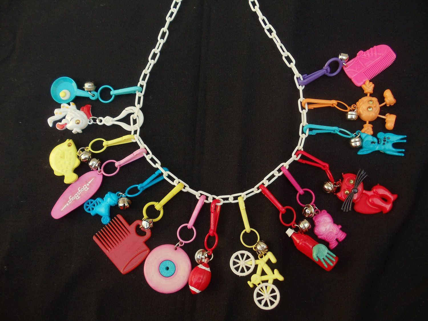 1980 Plastic Charm Necklace We Used To Trade Charms In