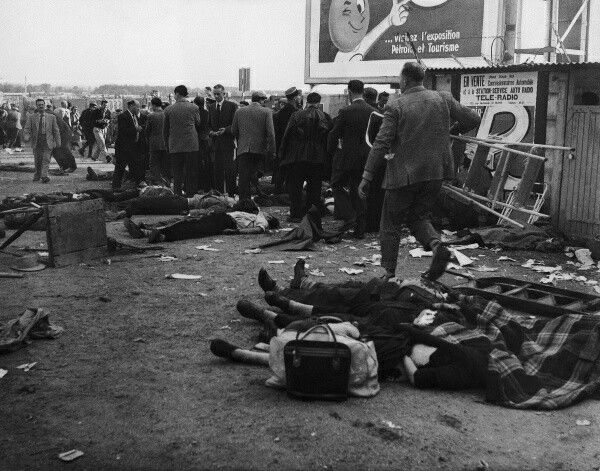 Some Of The Carnage Following The 1955 Le Mans Crash Over 80