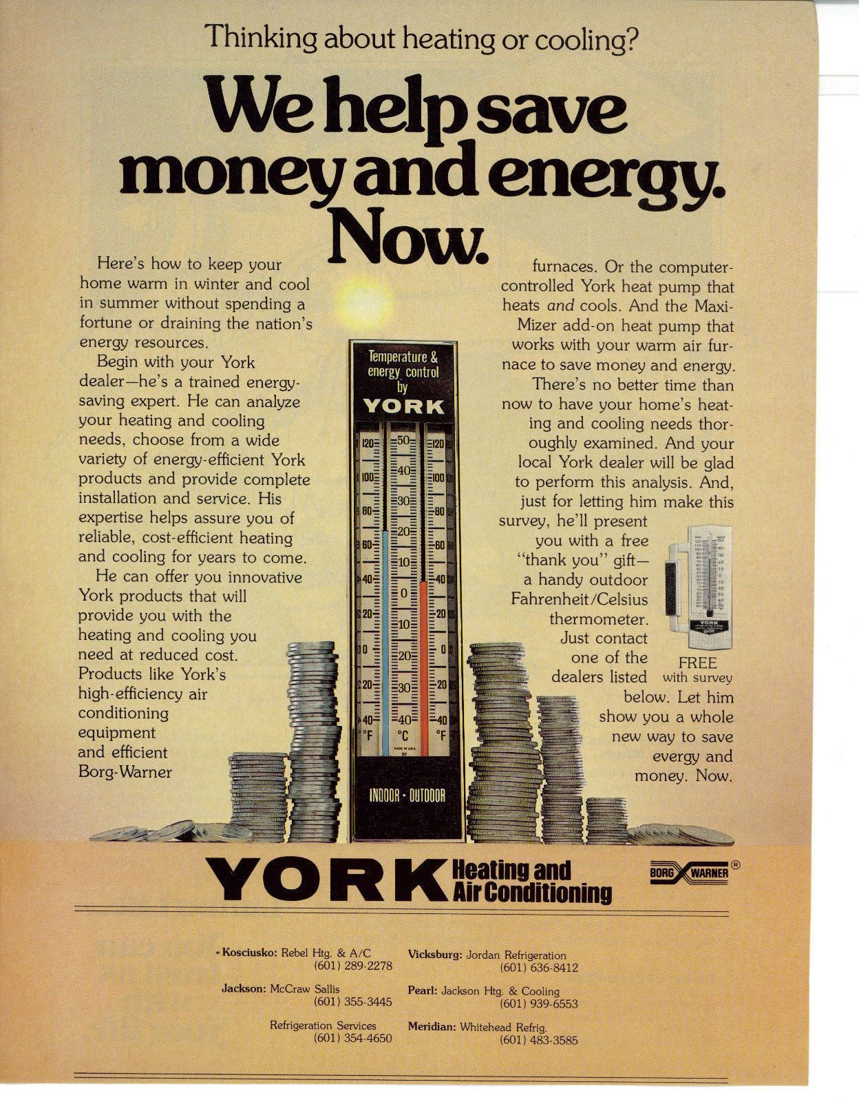1978 York Heating And Air Conditioning Print Ad York Air
