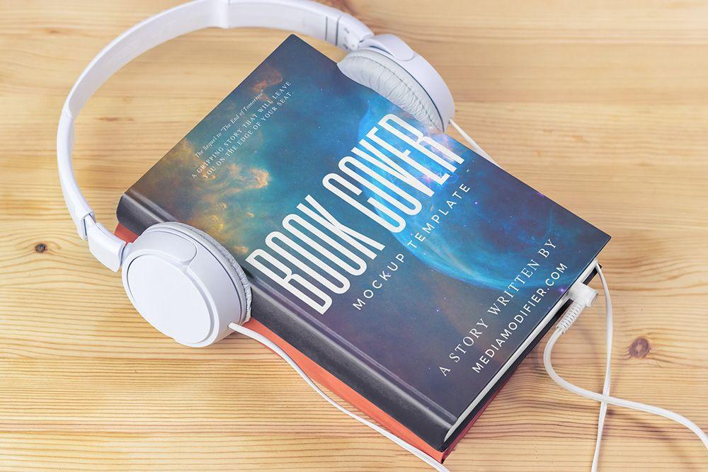 Hardcover Book With Headphones Mockup Generator Mediamodifier Free Online Mockup Generator Hardcover Book Mockup Generator Hardcover