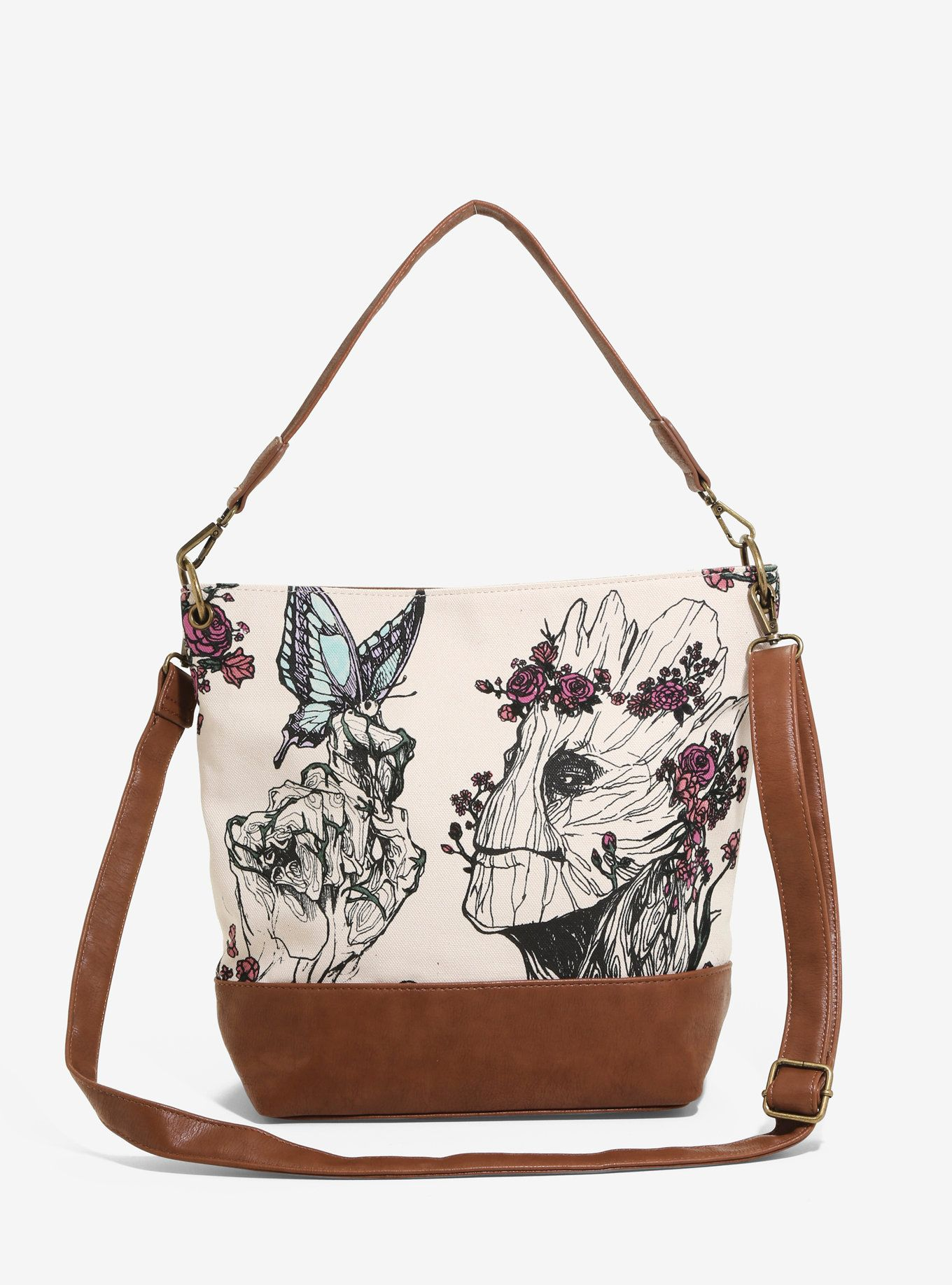 Loungefly Marvel Guardians Of The Galaxy Groot Floral Crossbody Bag ... 568c943c38c3f