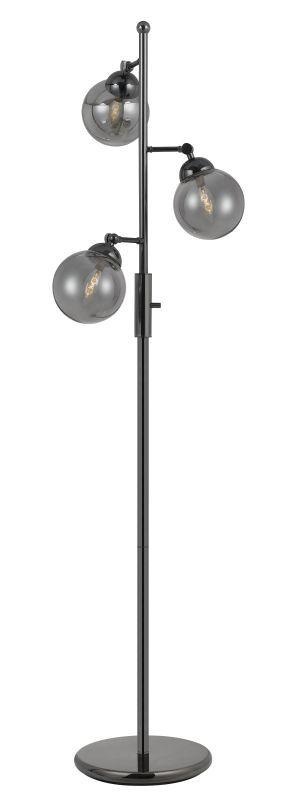 """CAL Lighting BO2577FL Prato 3 Light 63"""" High Floor Lamp with Gun Metal Glass Sha Gun Metal Lamps Floor Lamps Accent Lamps"""