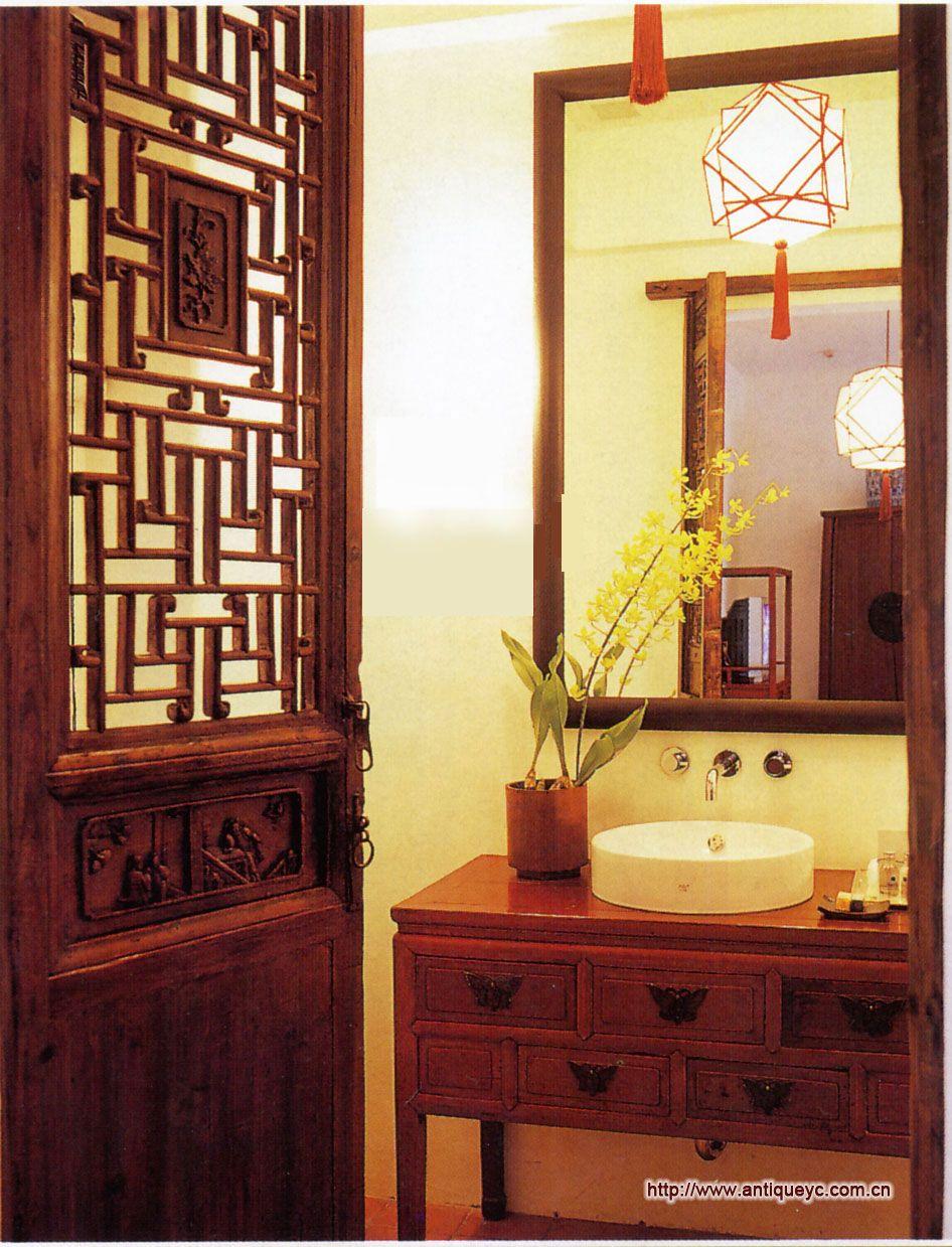 Chinese Style Bathroom Decor Credit Www Antiqueyc Cn Vintagemaya