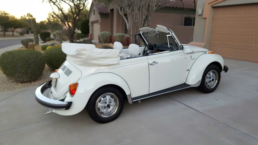 1979 48hp Triple White In Auctions In 2020 Beetle Convertible Volkswagen Beetle Volkswagen Beetle Convertible