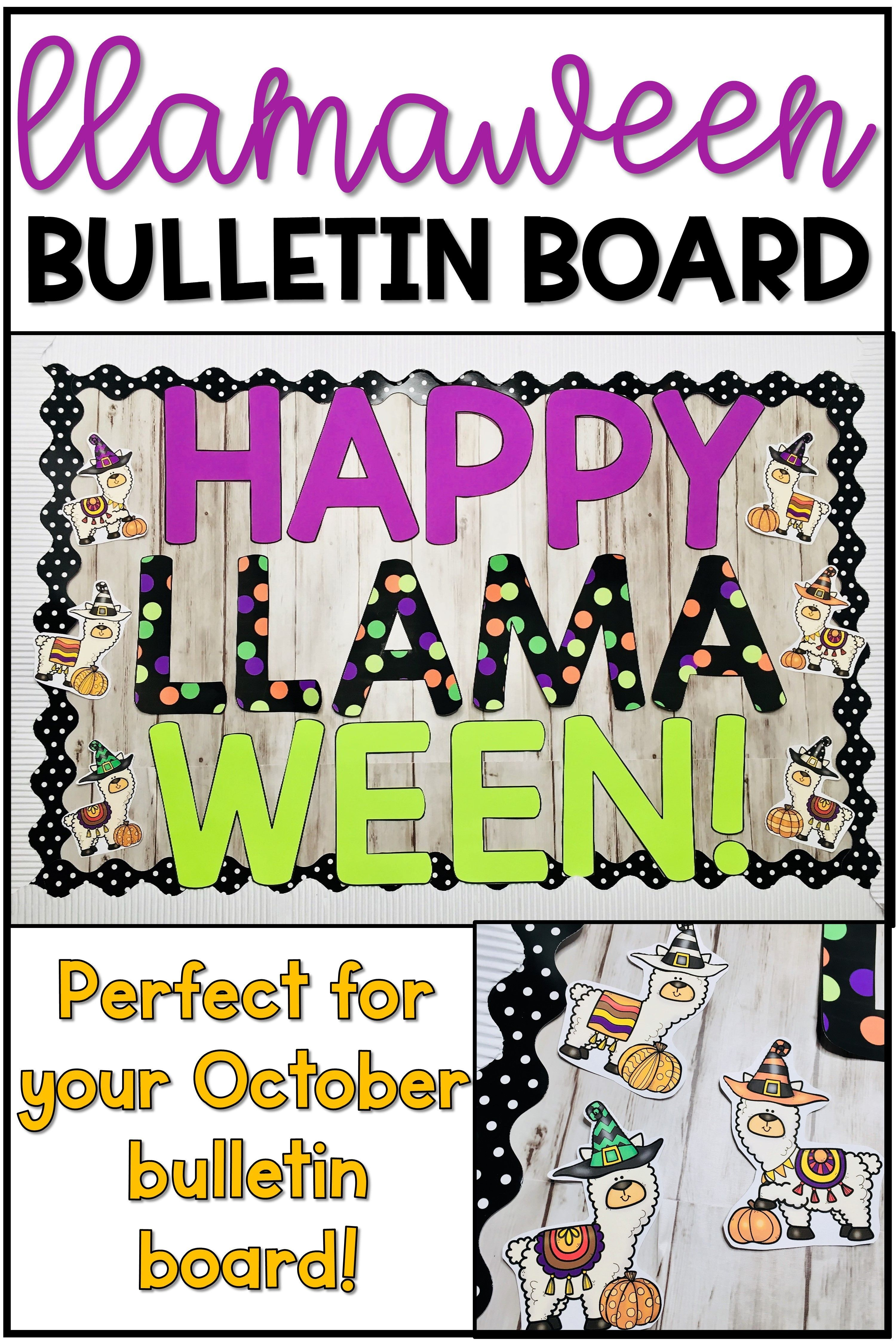 Halloween Llama Bulletin Board or Door Decoration