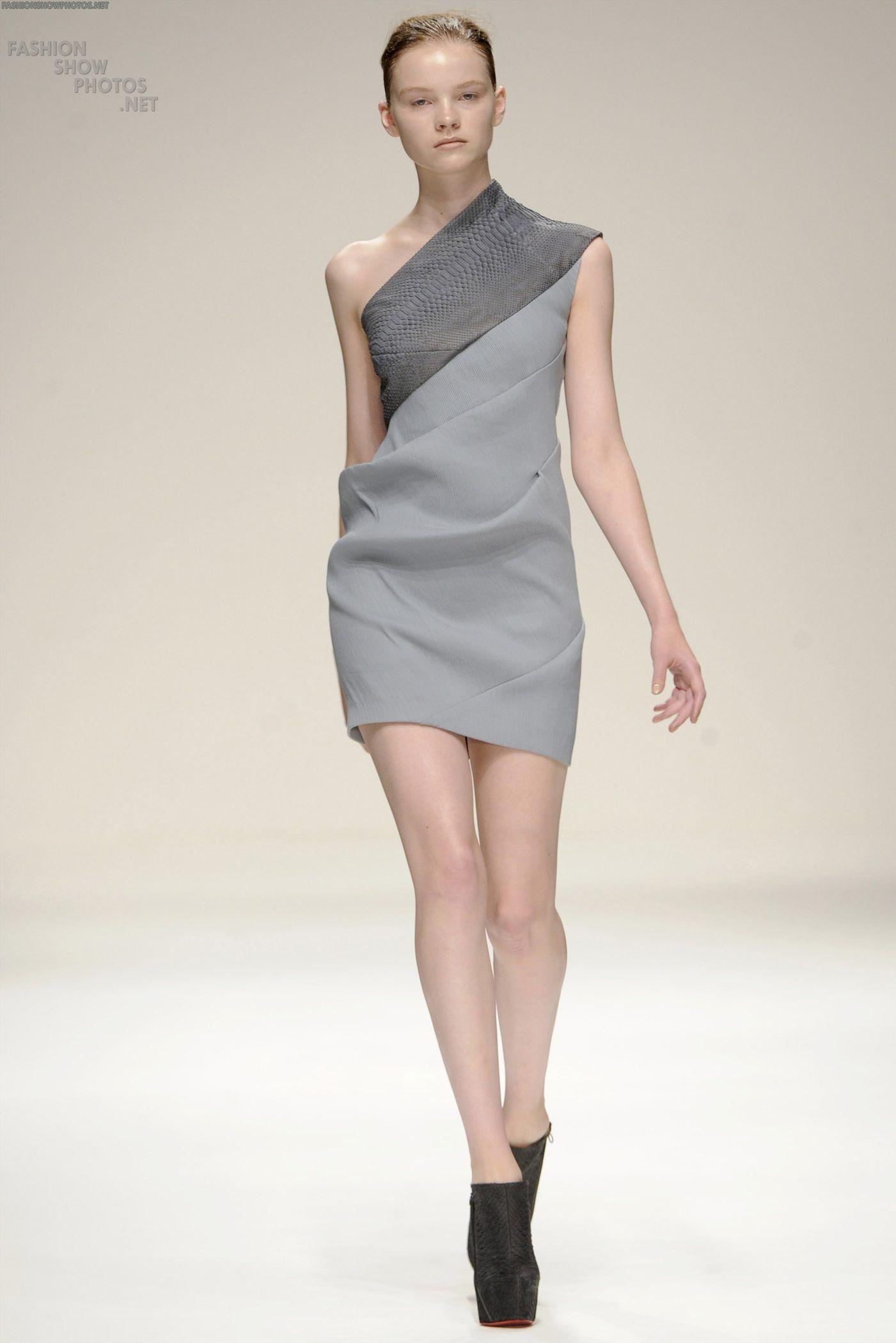 Asymmetrical two-toned dress