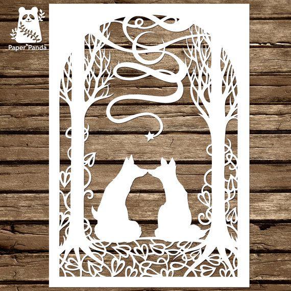 Paper panda papercut diy design template infinity foxes galore paper panda papercut diy design template infinity maxwellsz