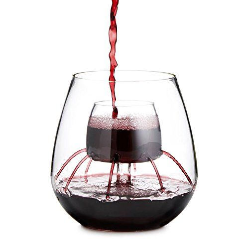 Stemless Aerating Wine Glass Deranged Gifts Wine Gifts Gifts For Wine Lovers Wine Decanter