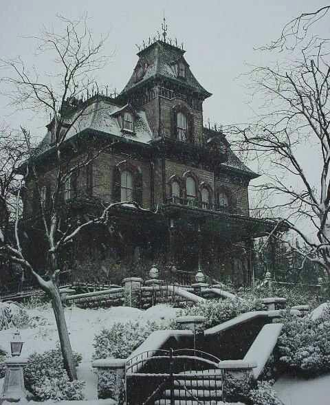 The Model For The Haunted House At Disney World