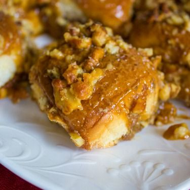 Caramel Nut Pumpkin Rolls with King's Hawaiian® Dinner Rolls #KHHolidayRollCall