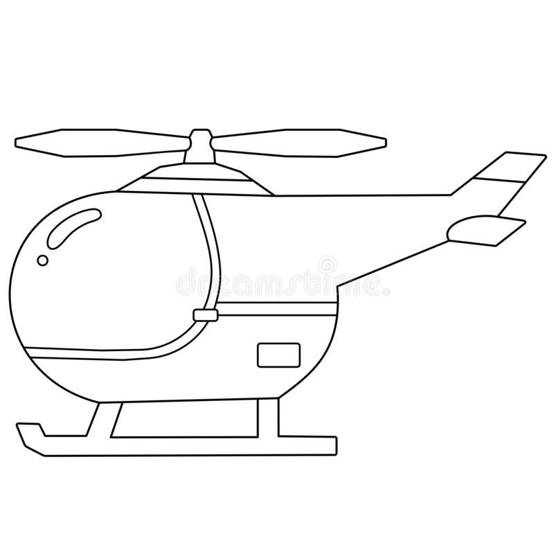 Coloring Page Outline Of Cartoon Helicopter Images Of Transport For Children Vector Coloring Book For Kids Royalty Free In 2021 Illustration Cartoon Coloring Books