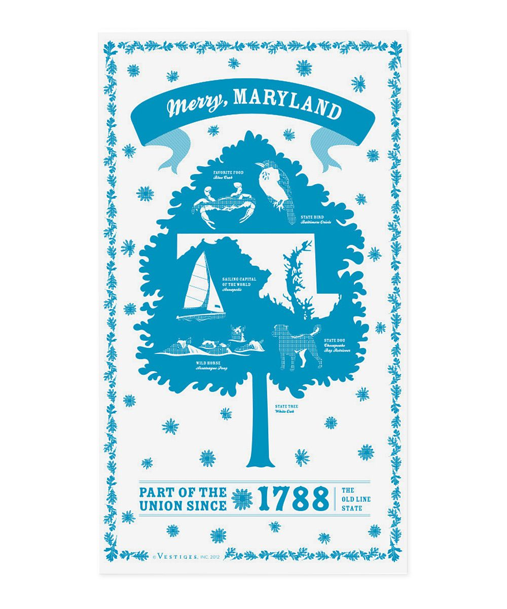 Maryland State Kitchen Towel | House - Wishes | Pinterest | Products