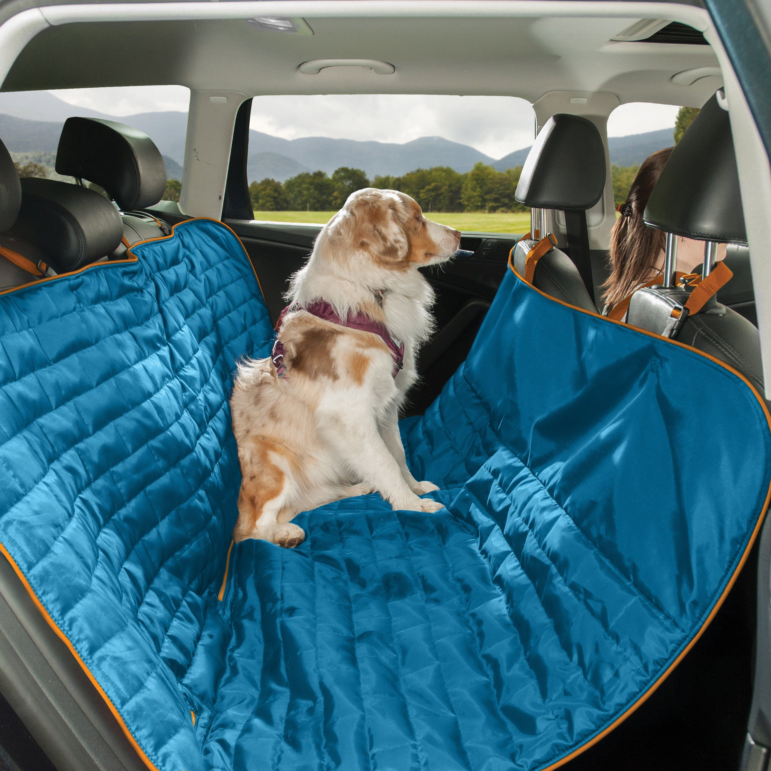 stowe dog car waterproof suede covers seat hammock