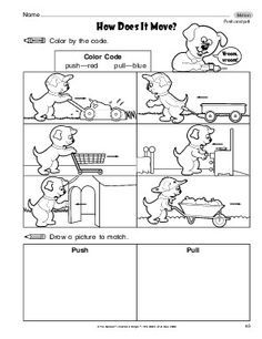 Image result for push and pull worksheet for grade 1