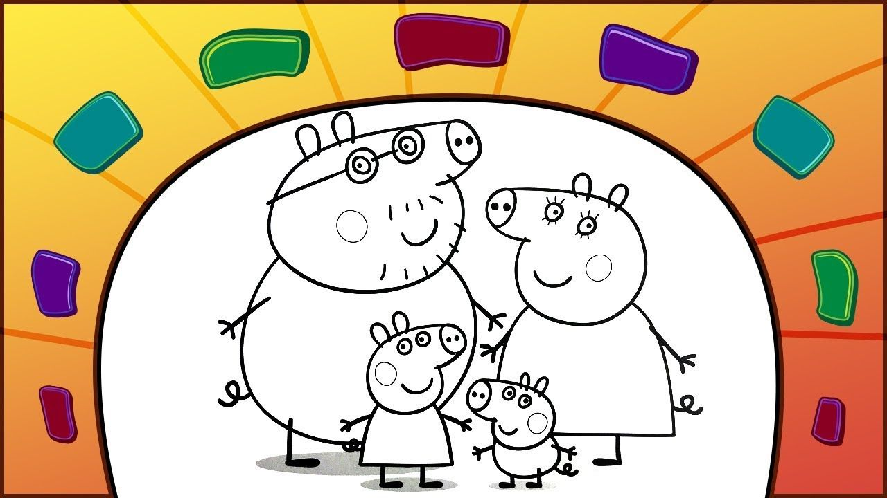 Peppa Pig Coloring Book How To Color Peppa S Family Coloring Books Kids Entertainment Play Doh Art