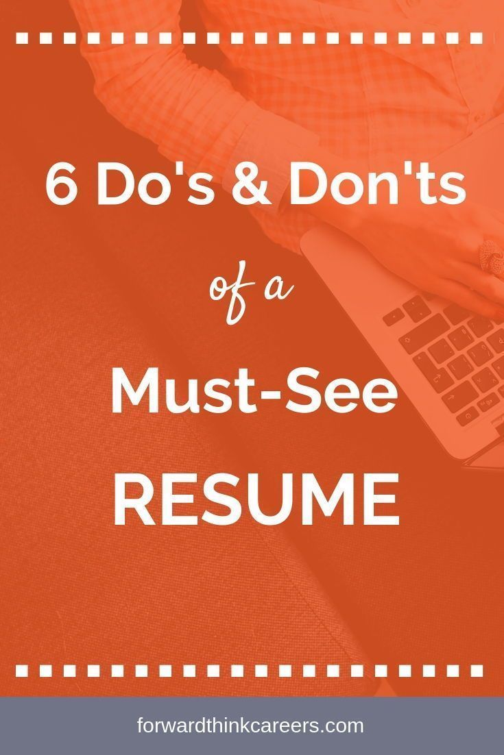 6 Do's & Don'ts of a MustSee Resume - Resume tips, Job search motivation, Job search tips, Resume advice, Resume, Cover letter for resume - When you're doing a job search, your resume is your calling card  With recruiters only spending about 7 seconds skimming this vital document, you want to ensure your resume stands out and gets noticed! Here are 6 do's and don'ts to keep in mind