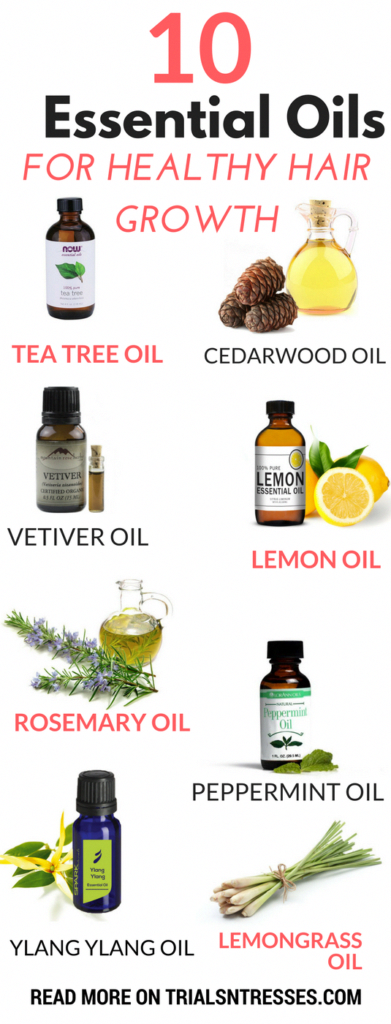 10 Best Essential Oils For Healthy Hair Growth - Trials N Tresses