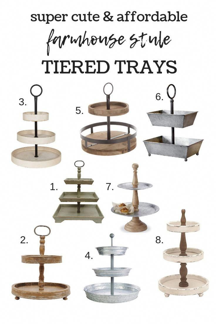 Photo of Farmhouse Style Tiered Trays | Simply Kierste Design Co.