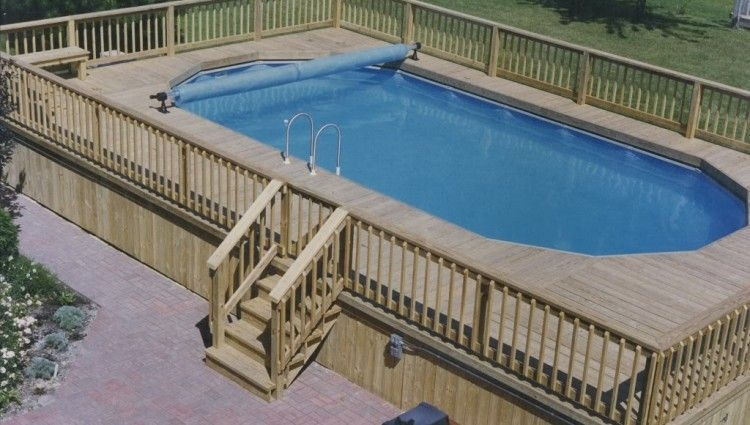 Pool Layouts above ground pool deck layouts | above ground oval pool deck