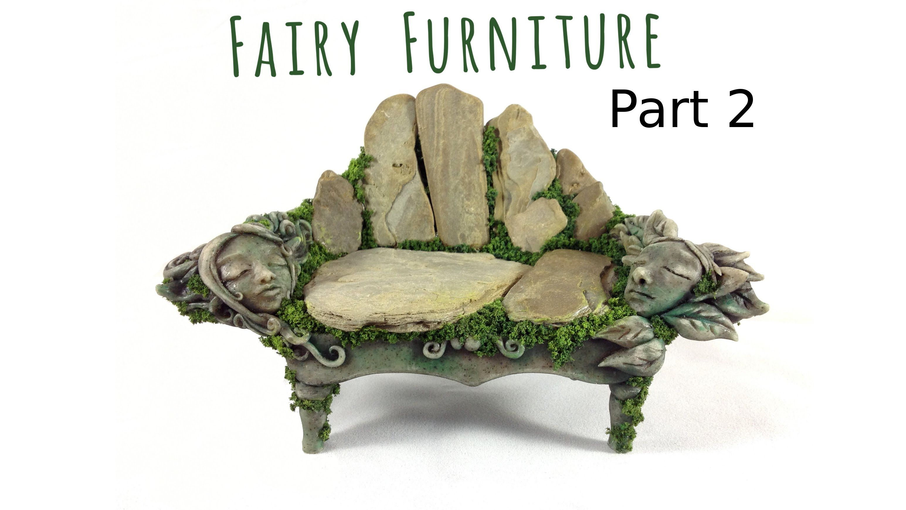 How To Make Fairy Furniture Out Of Clay Rocks Part 2 Diy Fairy Furni Fairy Garden Diy Fairy Furniture Fairy Garden Furniture