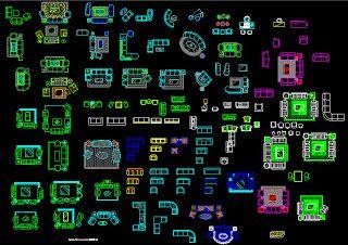 Conjunto de bloques autocad 2d arq recursos 3d for Bloques autocad 2d
