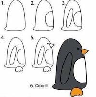 Drawings Artworks تعليم الرسم افكار رسومات اطفال ملونة سهله تعليمية فنية بسيطة جميلة بنات كيوت صغار اولاد مبت Drawing For Kids Name Drawings Penguin Drawing