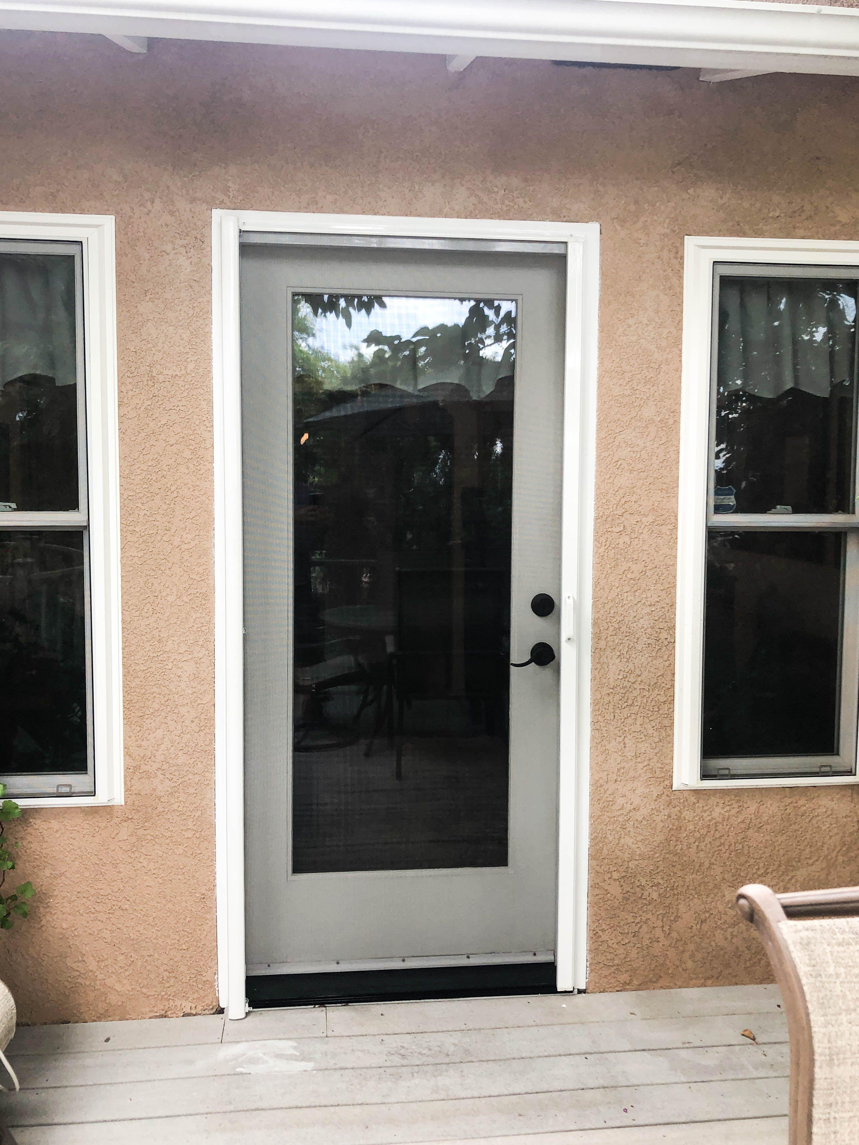 Pin On Single Door Stowaway Retractable Screen Doors