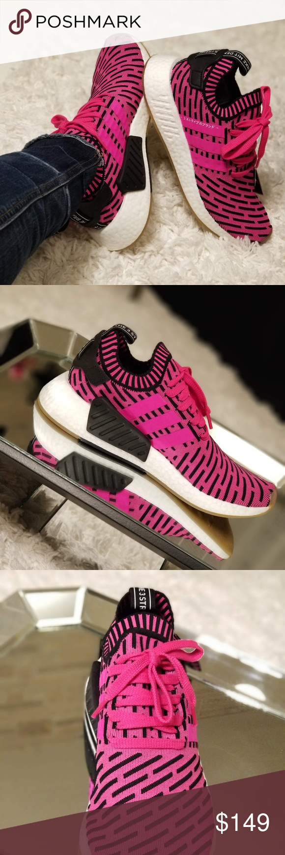 e985488de51d6 Adidas NMD R2 PK Japan Pack Release  These are a men s size 5 on the ...