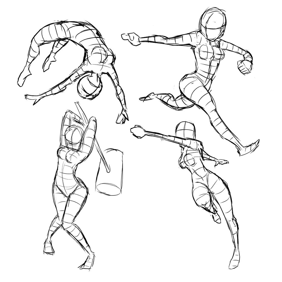 Action gestures #action #template #female #anatomy #art #sketch ...