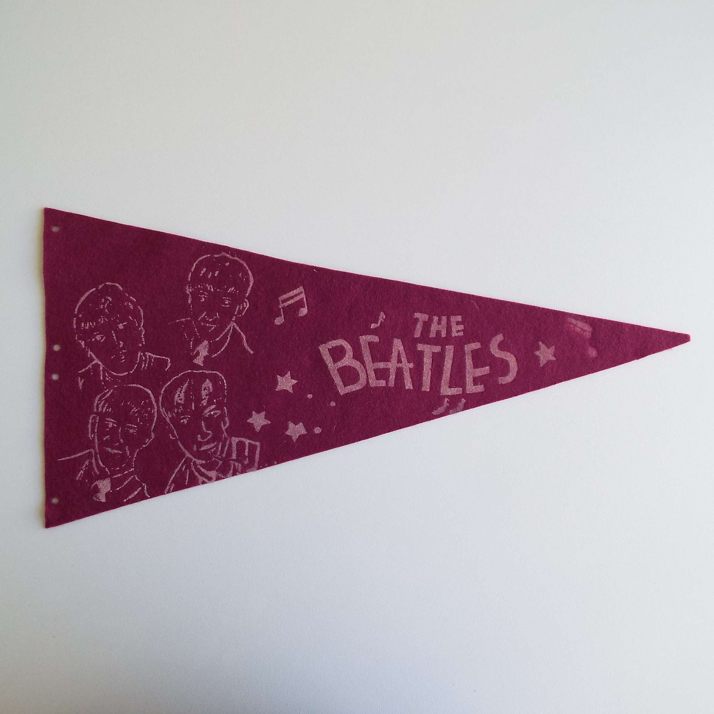 5dfc5c5b6 Excited to share the latest addition to my  etsy shop  Vintage 1960 s  Beatles Pennant