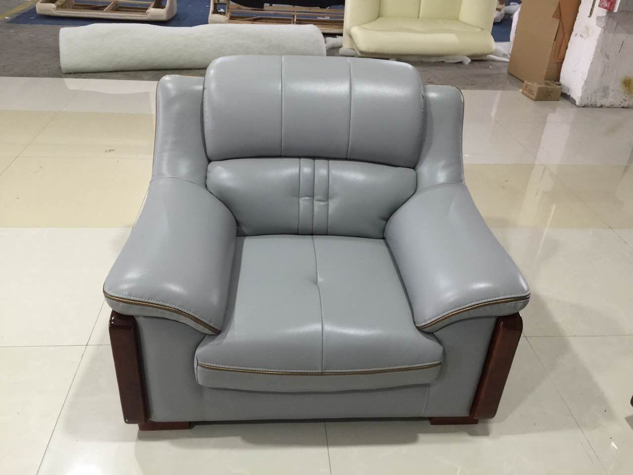 Good Looking Leather Sofa Comfortable One Seater
