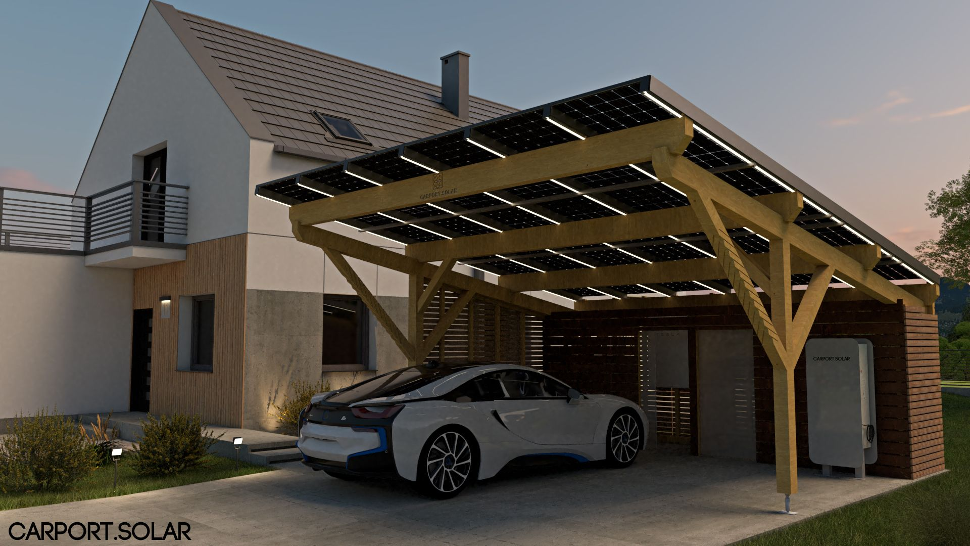 Der Carport.Solar ist eine der effizientesten