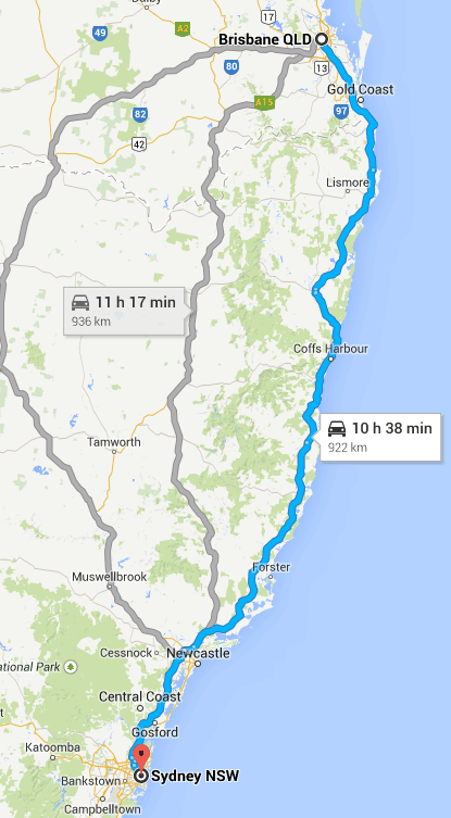 How Long Does It Take To Drive From Sydney Brisbane 922 Kms 573