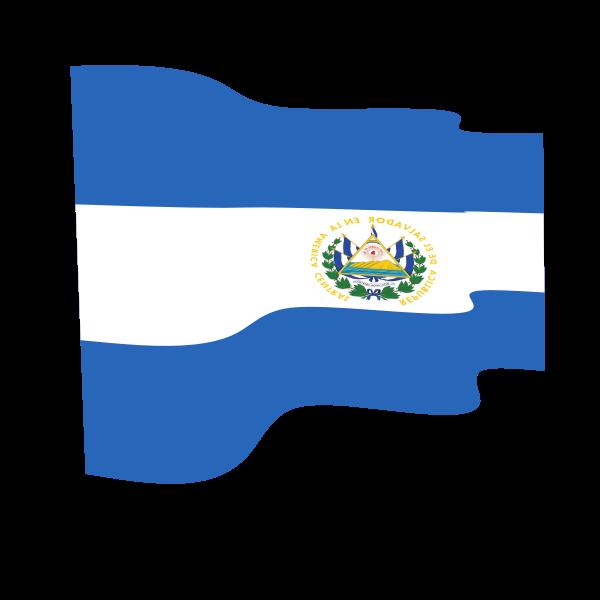 El Salvador Waving Flag Flag Salvador El Salvador
